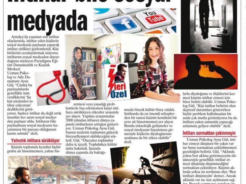 İleri Gazetesi İntihar Röportajı
